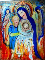 Skulls Spirit Virgin Mary by PowerfulPhoenix