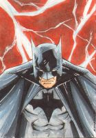 Batman Red Sky Sketch Card by wheels9696