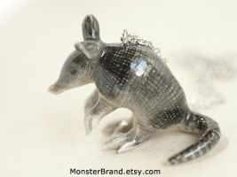 Armadillo Necklace by MonsterBrandCrafts