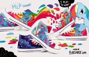 My Little Pony Shoes by Bobsmade