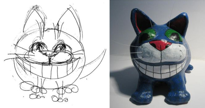 Cheshire Cat: sketch and result by IAstartov