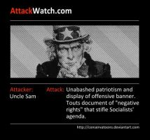 Attack Watch Uncle Sam by Conservatoons