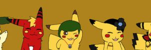 DA Poke-Family - The pikachu by SkiM-ART