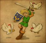 Cucco Attack by souldreamx