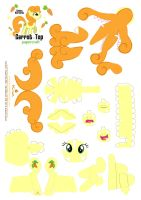 Carrot Top papercraft Pattern by Kna