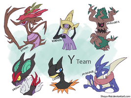Pokemon Y Team by Shoyu-Rai