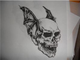 Death Bat- drawing by CHICANOCHOP