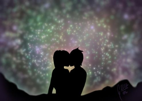 Under the stars by Gini-Gini