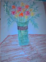 A vase of flowers by MicciB