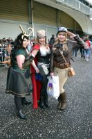 Marvel Ladies at 2015 Sydney Supanova by rbompro1