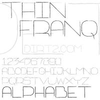 Thin Franq Font by KeepWaiting