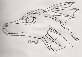 Dragon from Shrek (my style) by LPS100