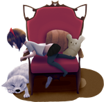 Dog Chair by skullxmike