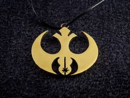 Jedi Order within the Rebel Alliance pendant by KristoLiiva