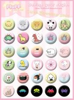 Cute Buttons 2011 by Fluffntuff