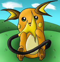 Raichu Colored by Quantum-Art