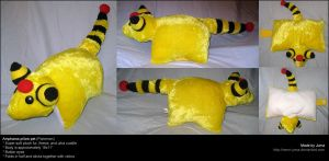 Ampharos pillow pet by Neon-Juma
