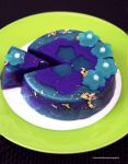 Concord Grape Cream Cheese Jelly w/Gold Flakes by theresahelmer