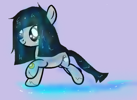 OC runing with a wet mane. by kim-306
