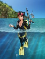 Catwoman's vacation by rita-unknown