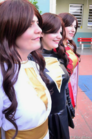 Mary Marvel cosplay group! by Carollinae