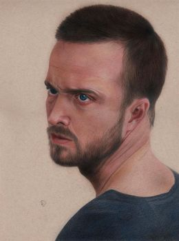 Aaron Paul by Lacrymosakma