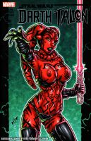 Naughty Darth Talon sketch cover by gb2k