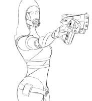Tali'Zorah Training by Lepoitt72