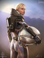 Prometheus Meredith Vickers Arse Render by Ravanna7