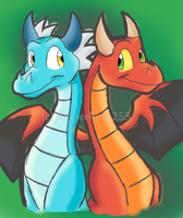 . Dragon Red . Dragon Blue . by faster-by-choice