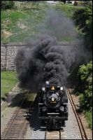 Exiting Alleghany tunnel by DragonWolfACe