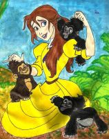 Jane and little gorillas by izabunny