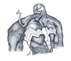 Portrait of a Symbiote by sheefo