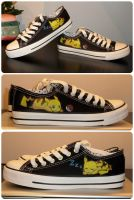 Painted Pikachu Shoes by maja135able