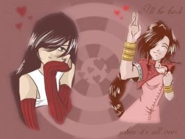 Tifa and Aerith by lilkillerduck