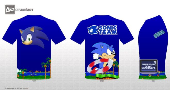 Sonic The Hedgehog T Shirt by brony4all