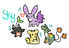 Companion adoptables by Skybers