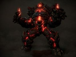 Fire Golem by cbinder