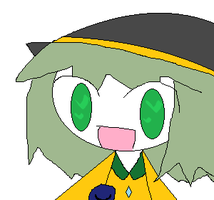 Koishi in MS Paint with mouse owo by PeacefulMoonlight