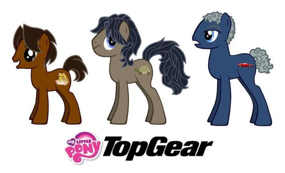 MLP FIM Top Gear Ponies by kaoshoneybun