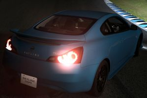 Nissan Skyline coupe drift at Night by NightmareRacer85