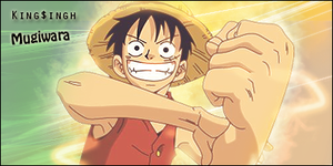 Strawhat Luffy sig by KingS1ngh