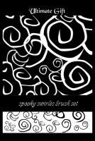 spooky swirles brush set by ultimategift