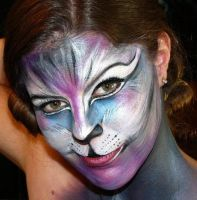 Adult Kitty Facepaint by PaintOnYourFace