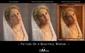 Before After Picture Of A Beautiful Woman by CecileVCreation