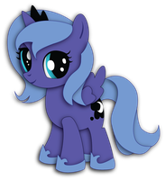 Filly Luna Shadowbox Mock-up by The-Paper-Pony