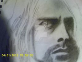 Kurt Cobain Portrait by BloodyXxBanshee