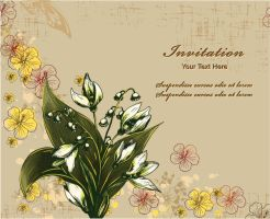 floral vector background by cristina012