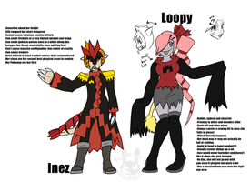 BFOI-Loopy and Inez Refs by Inkblot-Rabbit