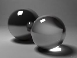 Glass and chrome spheres by MaoUndo